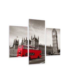 Multi-canvas 3x Bus in London