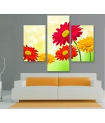Multi-canvas 3x Colorful gerbers