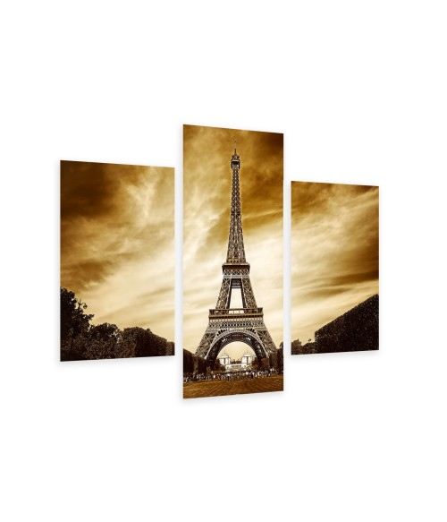 Multi-canvas 3x Eiffel tower in Paris