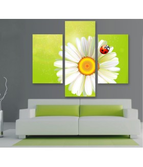 Multi-canvas 3x Flower bug