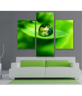 Multi-canvas 3x Green world