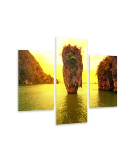 Multi-canvas 3x James Bond island