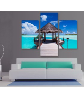 Multi-canvas 3x Jetty tropical