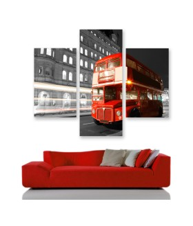 Multi-canvas 3x London Bus