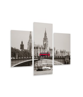 Multi-canvas 3x London view