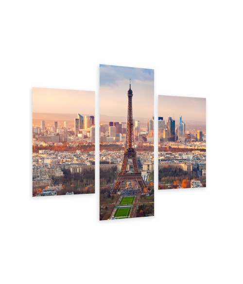 Multi-canvas 3x Paris at sunset