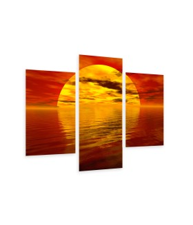 Multi-canvas 3x Sea sunset