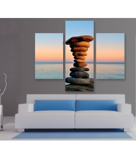 Multi-canvas 3x Stones ocean
