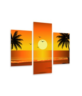Multi-canvas 3x Sunset