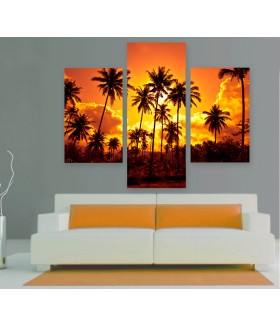 Multi-canvas 3x Thailand beach sunset