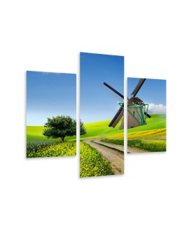 Multi-canvas 3x Traditional windmill