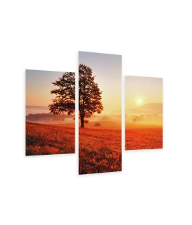 Multi-canvas 3x Tree and sun