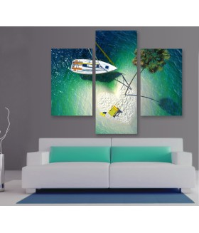 Multi-canvas 3x Tropical paradise
