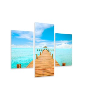 Multi-canvas 3x Vacations Mexico
