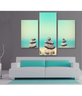 Multi-canvas 3x Vintage stone