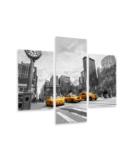 Multi-canvas 3x Yellow taxis