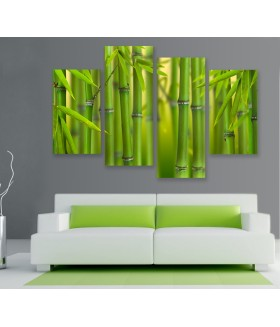 Multi-canvas 4x Bamboo forest