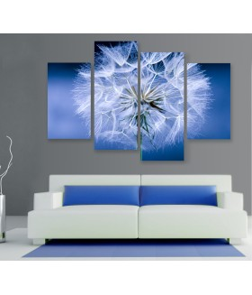 Multi-canvas 4x Dandelion flower