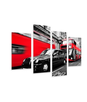Multi-canvas 4x London red
