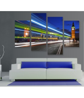 Multi-canvas 4x London urban