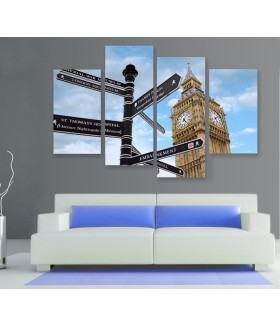 Multi-canvas 4x London sign