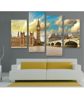 Multi-canvas 4x London view