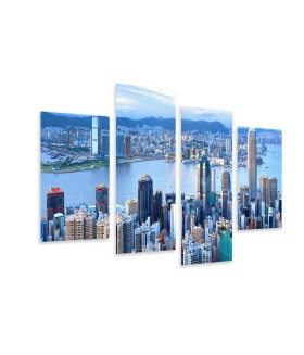 Multi-canvas 4x Megacity Hong Kong