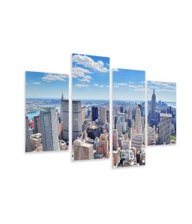 Multi-canvas 4x New York City panorama