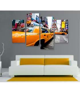 Multi-canvas 4x New York taxi