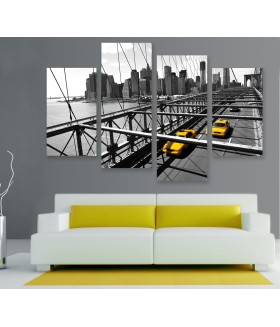 Multi-canvas 4x New York taxi bridge