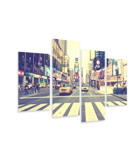 Multi-canvas 4x New York vintage