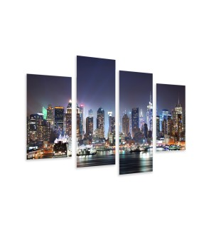 Multi-canvas 4x NY night lights