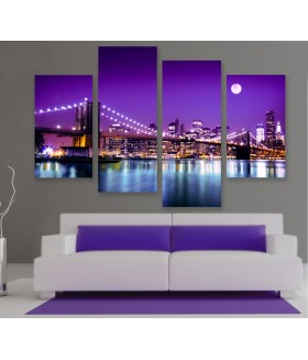 Multi-canvas 4x NY skyline night