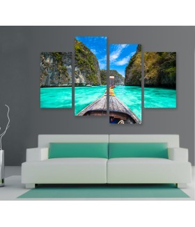 Multi-canvas 4x Phi Phi island