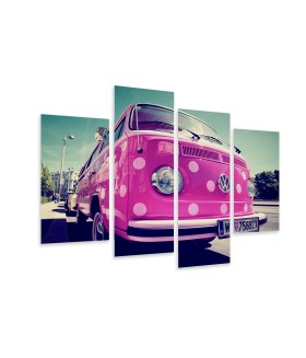 Multi-canvas 4x Pink car