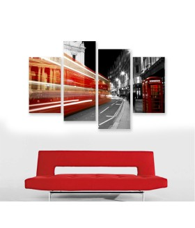 Multi-canvas 4x Red Booth