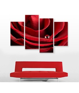 Multi-canvas 4x Red rose