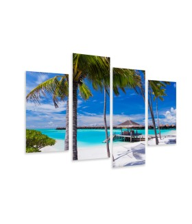 Multi-canvas 4x Tropical vacantion