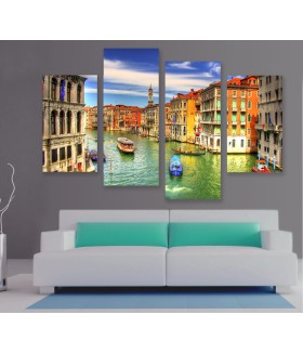 Multi-canvas 4x Venice arhitecture