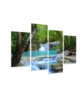 Multi-canvas 4x Waterfall  Thailand