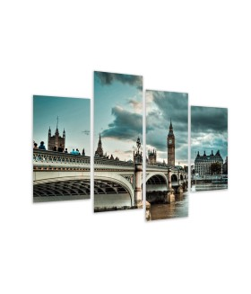 Multi-canvas 4x Westminister London