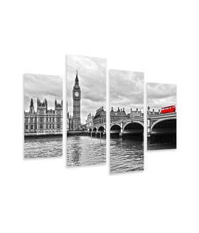 Multi-canvas 4x Westminster bridge