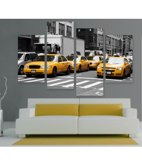Multi-canvas 4x New York yellow