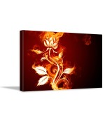 Tablou canvas Burning flowers