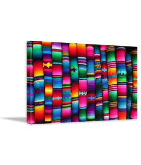 Tablou canvas Colorful blankets Guatemala