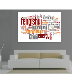 Tablou canvas Feng shui words