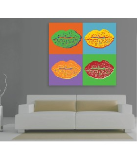 Tablou canvas Pop art lips