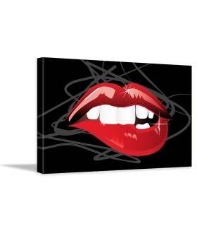 Tablou canvas Red lips style