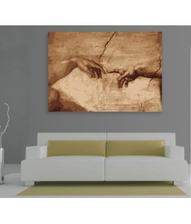 Tablou canvas Michaelangelo The creation of Adam